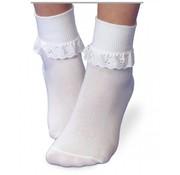 Eyelet Ruffle Turn Down Socks
