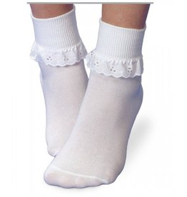 Eyelet Ruffle Turn Down Socks