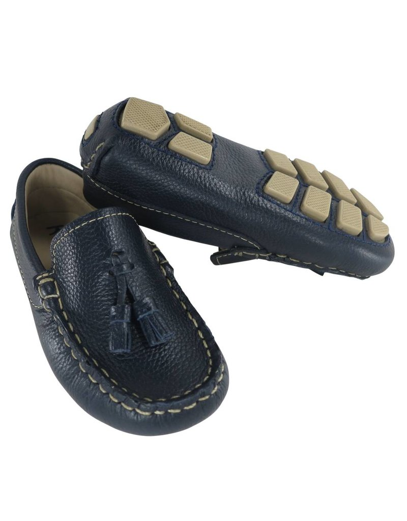 Toke Driving Moccasin with Tassels in Navy