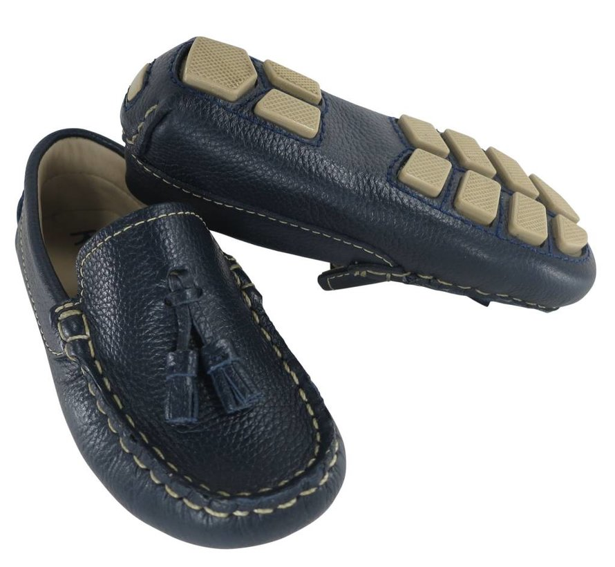 Driving Moccasin with Tassels in Navy