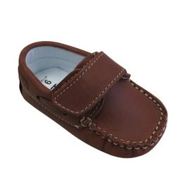 Kone Baby Moccasin in Copper Distressed Leather