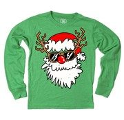 Wes & Willy Santa Disguise Long Sleeve Tee