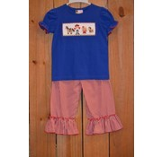 Banana Split Toy Time Smocked Girls Ruffle Pantset