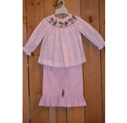 Banana Split Saddle Up Smocked Bishop Top and Ruffle Pants