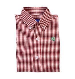 J Bailey Tobasco Red Check Buttondown Shirt