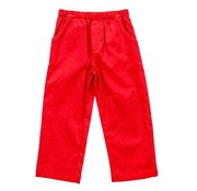 The Bailey Boys Red Corduroy Elastic Pants
