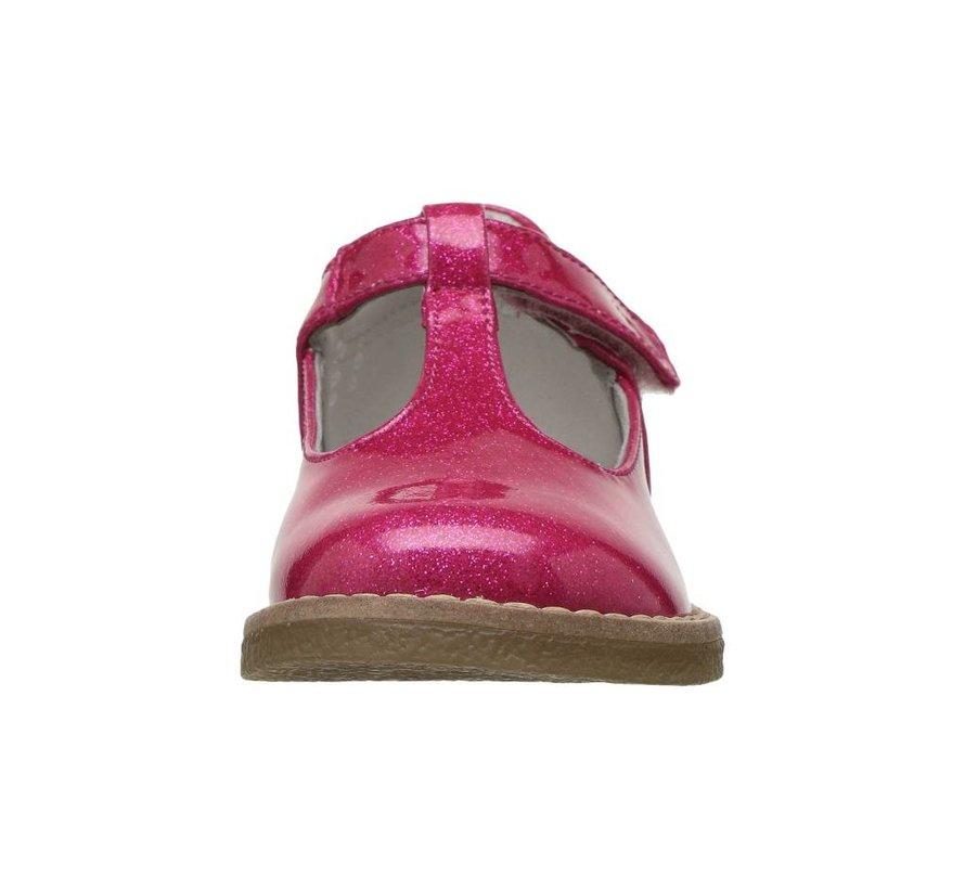T-Strap Birdie Show in Patent Magenta Glitter