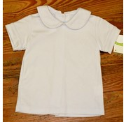ZUCCINI CORP Basic Boy Knit Peter Pan Collar Shirt with White Piping