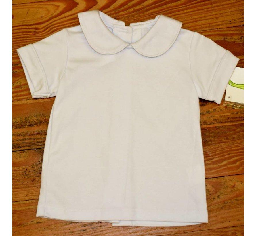 Basic Boy Knit Peter Pan Collar Shirt with White Piping