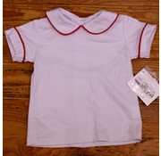 ZUCCINI CORP Basic Boy Knit Peter Pan Collar Shirt with Red Piping