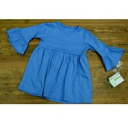 Zuccini Basic Bell Sleeve Dress in Colonial Blue