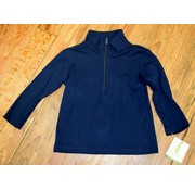 ZUCCINI CORP Basic Knit Pullover Half Zip Jacket in Navy