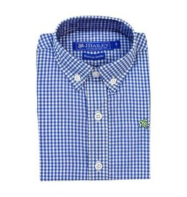 J Bailey Cadet Blue Check Button Down Shirt