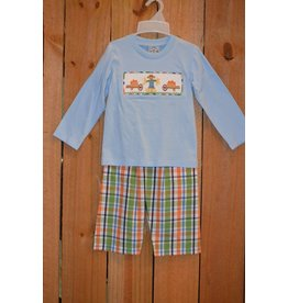 Three Sisters Happy Fall Smocked Boys T-shirt and Pants