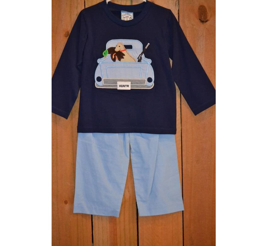 Duck Hunting Applique Boys T-shirt and Pants