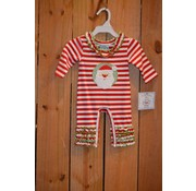Three Sisters Santa Applique Girls Knit Romper