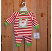Three Sisters Santa Applique Boys Knit 2 piece Set