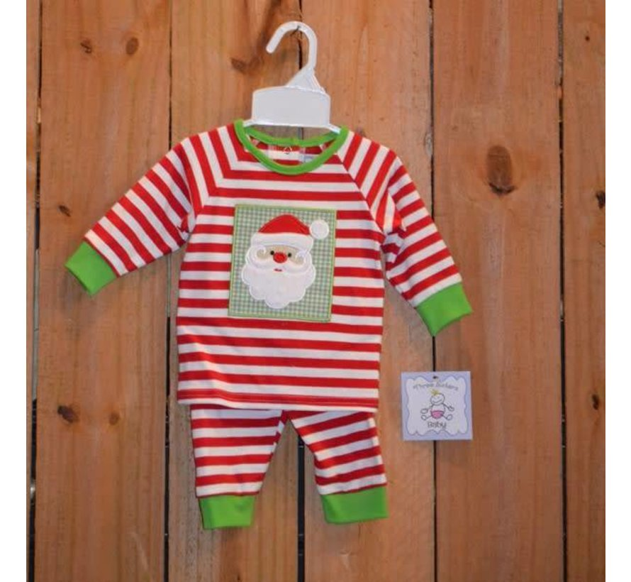 Santa Applique Boys Knit 2 piece Set