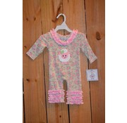 Three Sisters Baa Baa Applique Knit Romper