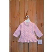 Three Sisters Girls Pink Minky Hooded Jacket