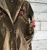 Johnny Was Mehdi Hooded Military Coat