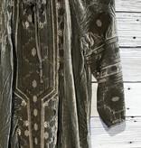 Johnny Was Nomi Velvet Peasant Tunic Dress Hunter Green