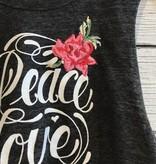 Spiritual Gangster Peace Love Yoga Crop Tank