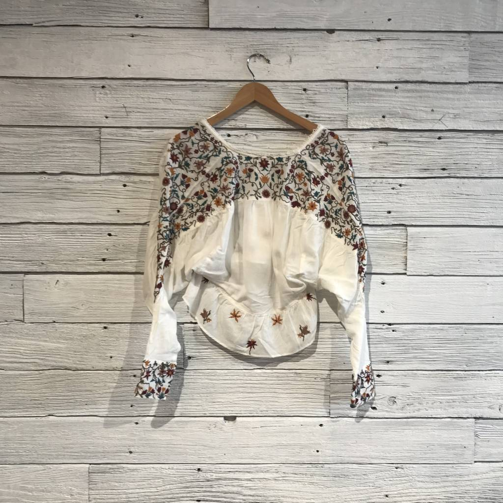 Free People Ava Embroidery Blouse