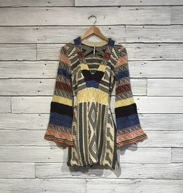 Free People Patchwork Sweater Dress