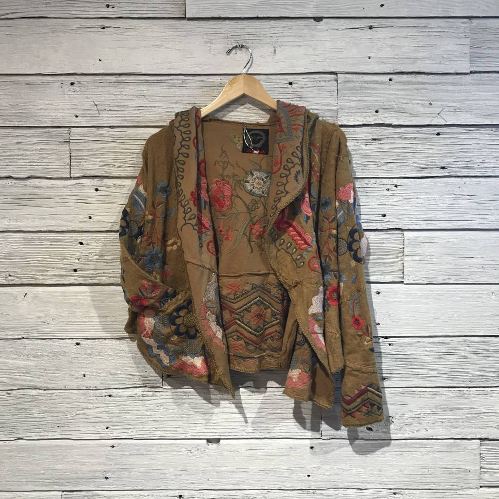 Johnny Was Syril Patchwork Cardigan