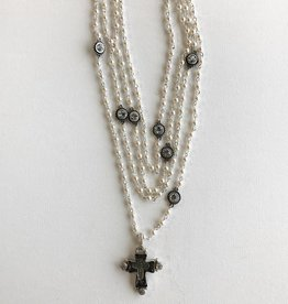 Virgins Saints & Angels Cross Pearl Magdalena