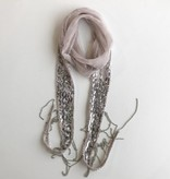 Chiffon Cluster Sequence Scarf