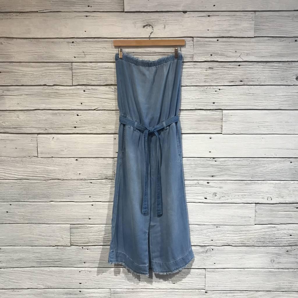 Bella Dahl frayed crop jumpsuit
