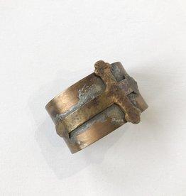 cross brass cuff