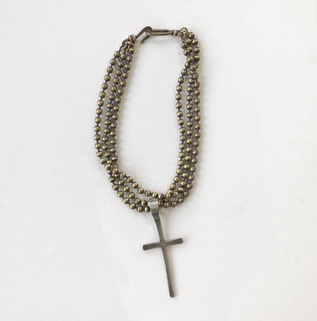 cross 'n brass pendant