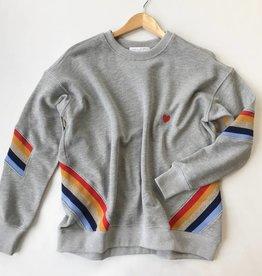 spiritual gangster heart stripe  sweatshirt
