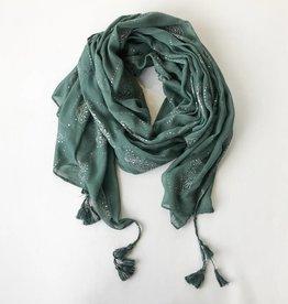 gauze foil pendant scarf more colors