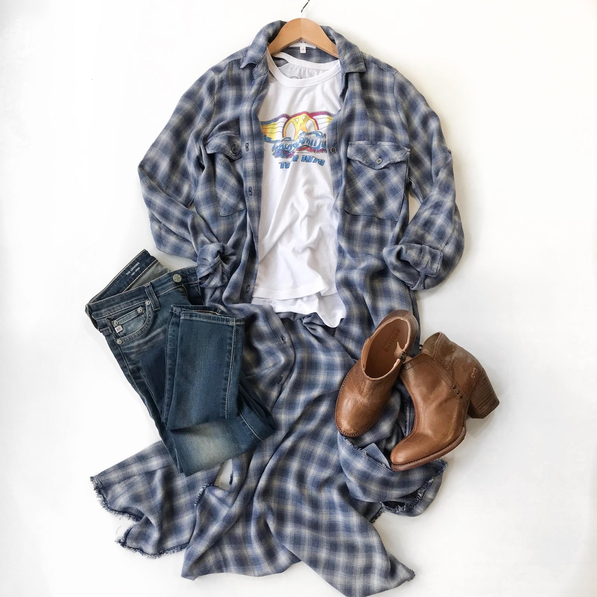 Bella Dahl Maxi Duster Shirt Dress