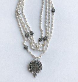 Virgins Saints & Angels fay pearl 4mm magdalena san benito