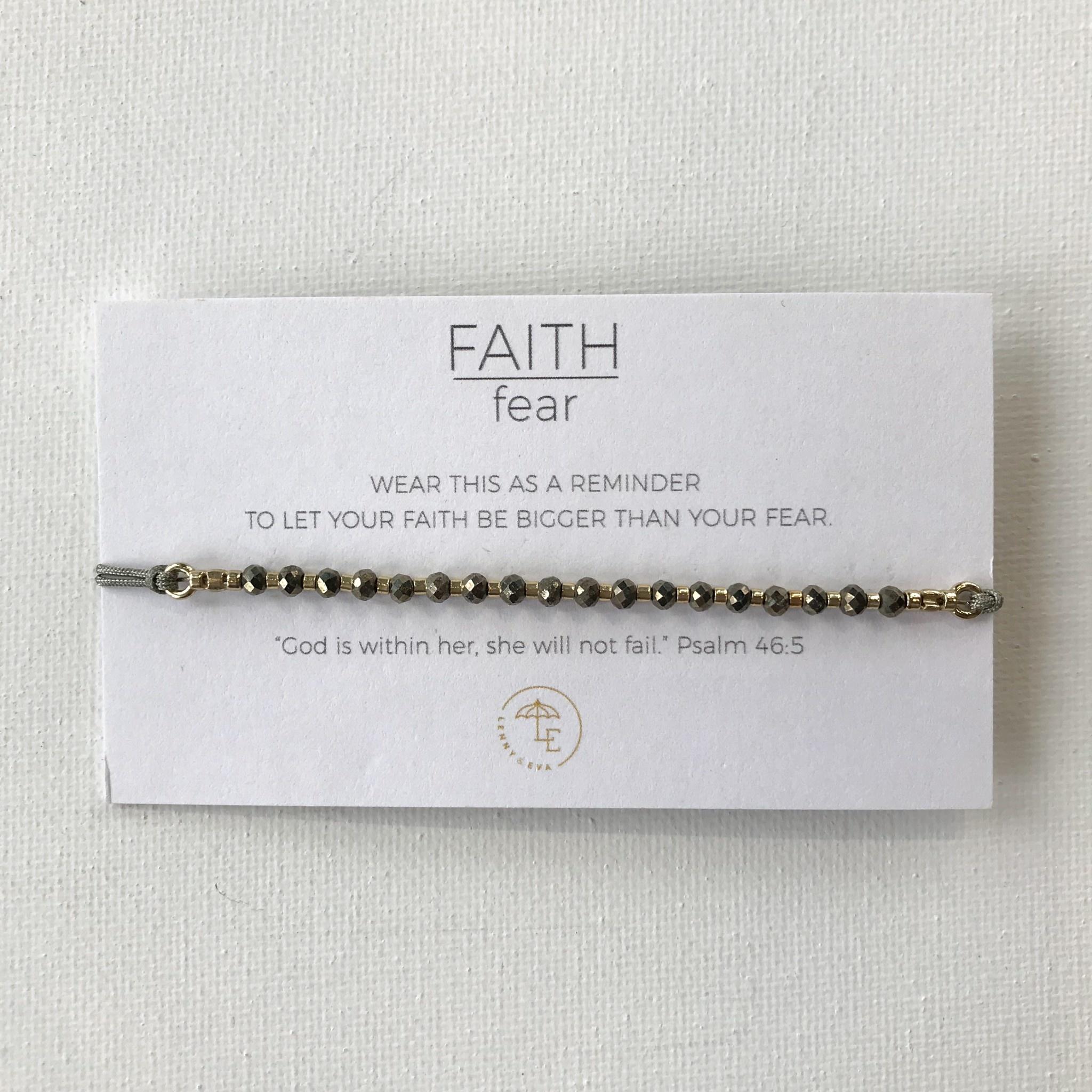 Lenny & Eva Faith over Fear Gemstone Bracelet More Colors