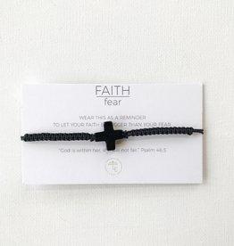 Lenny & Eva Faith Over Fear Cross Cord Bracelet More Colors