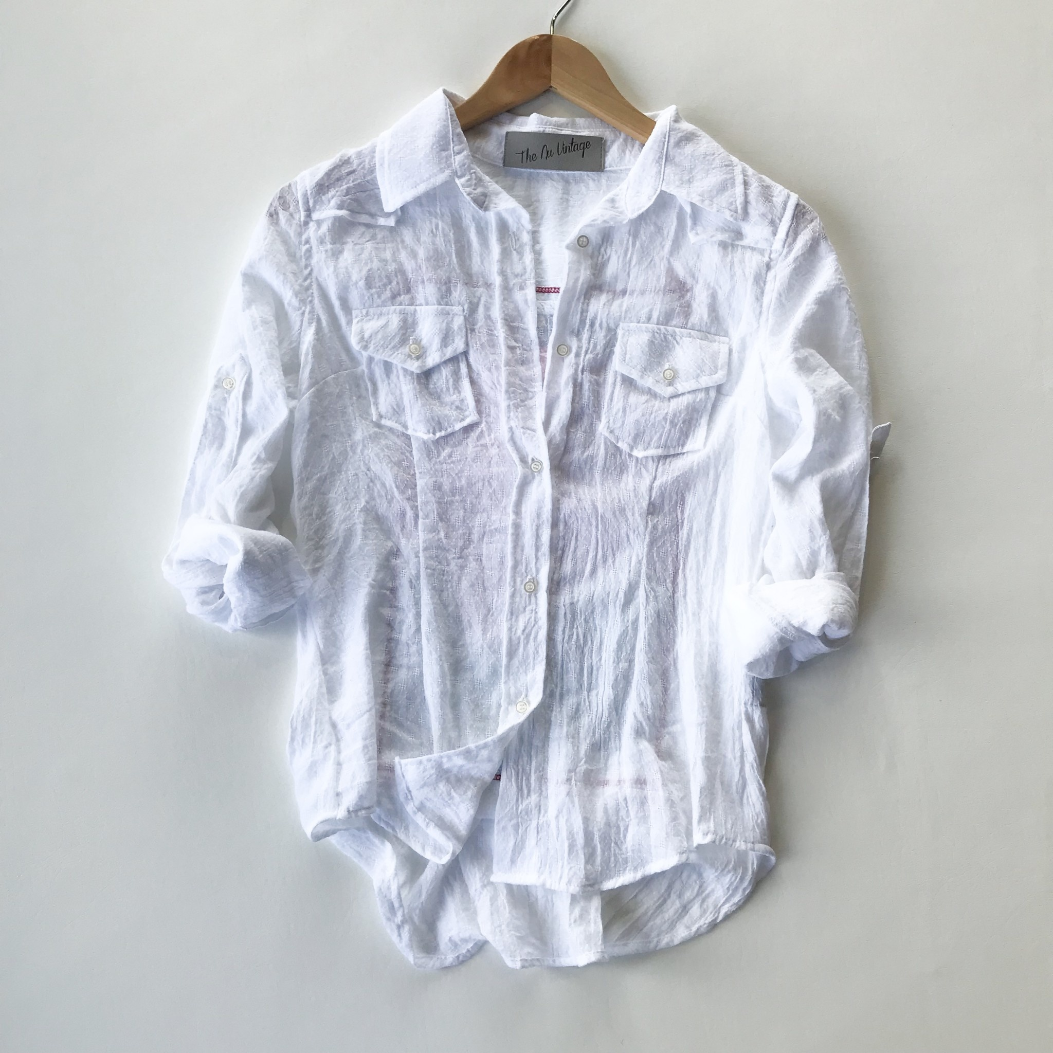 rose patch button up