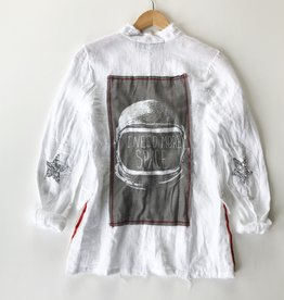 I need space linen patch blazer