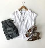 Bella Dahl slit tie top