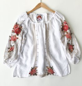 Johnny Was paola peasant tie blouse