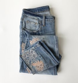 Embroidery Ankle Skinny