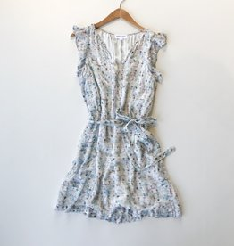 Bella Dahl watercolor ruffle dress