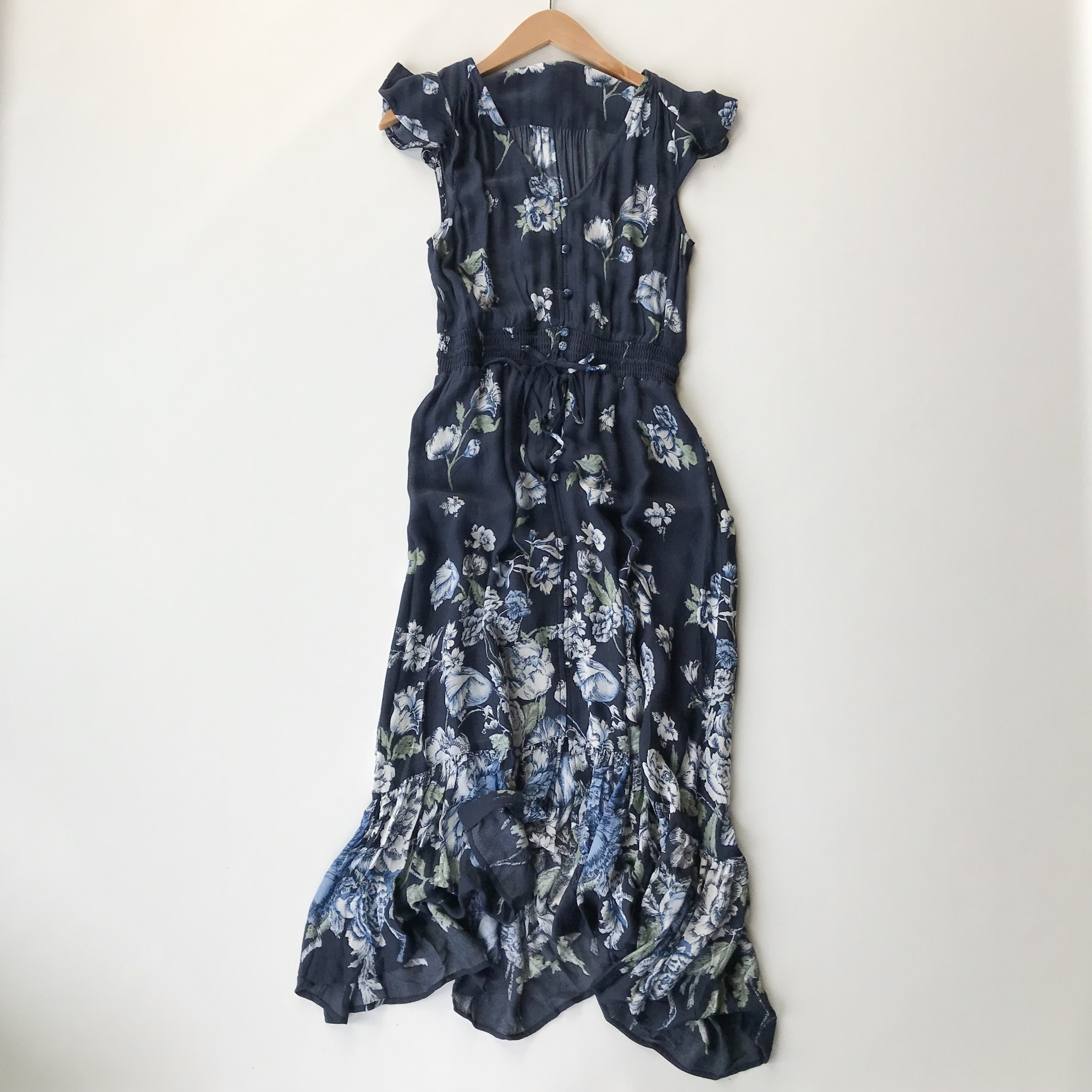 Lucky Brand Floral Printed Felice Dress Navy