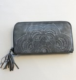 Leaders in Leather Tooled wristlet