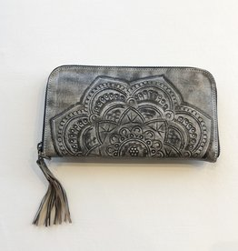 Leaders in Leather Tooled wristlet More Colors